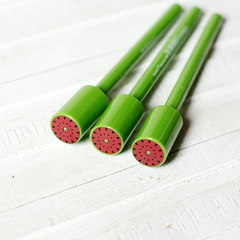 Ручка черная гелевая Bescu Watermelon