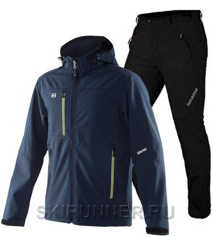Лыжный утепленный костюм 8848 Altitude Daft Softshell Navy Noname Grassi 18