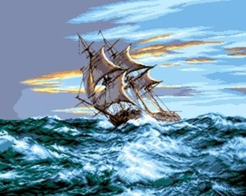 G-657 Парусник на море