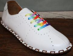 Летние туфли женские Evromoda 19604 White