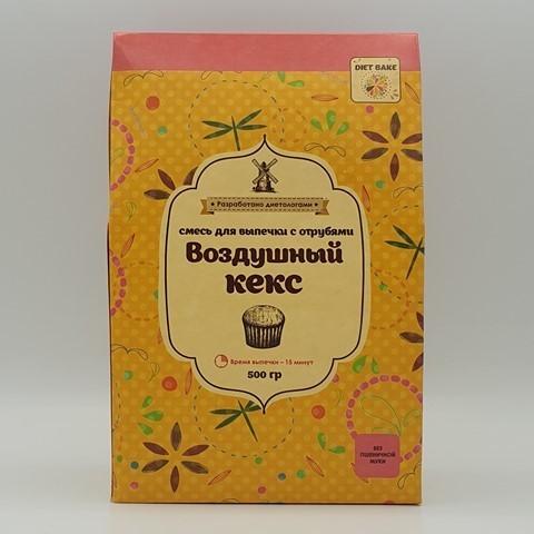 Смесь для кекса с отрубями DIET BAKE, 500 гр