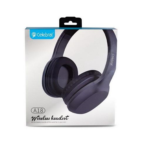Наушники Bluetooth Celebrat A18, black