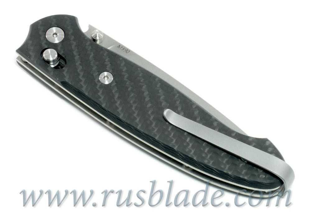 Cheburkov Scout M390 Folding Knife Carbon Fiber Axis Lock Best Russian Knives