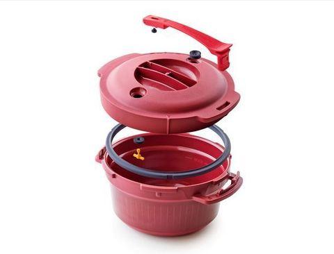 Скороварка для микроволновой печи «Супер-повар» (3 л) в красном цвете