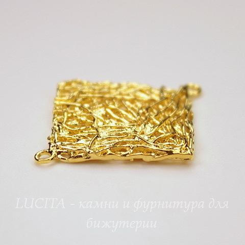 """Коннектор """"Ромб""""  (1-1) 31х27 мм (цвет - золото)"""
