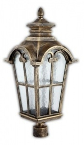 Светильник садово-парковый, 100W 220V E27 черное золото , IP44 , PL5104 (Feron)