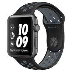 Умные часы Apple Watch Nike+ 42мм из алюминия цвета «серый космос», спортивный ремешок Nike MNYY2
