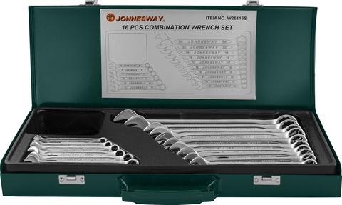 W26116S Набор ключей гаечных комбинированных в кейсе, 6-24 мм, 16 предметов
