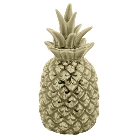 Керамический ананас светло-зелёный