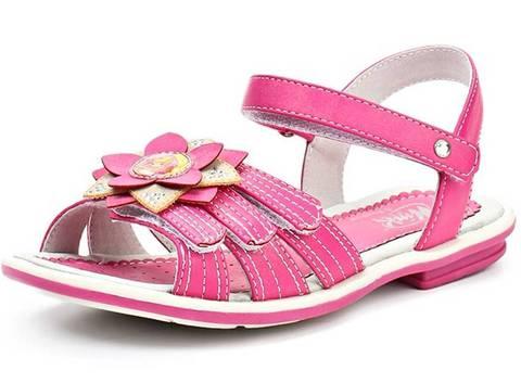 Босоножки Винкс (Winx) на липучках с открытым носком и пяткой для девочек, цвет розовый. Изображение 2 из 8.