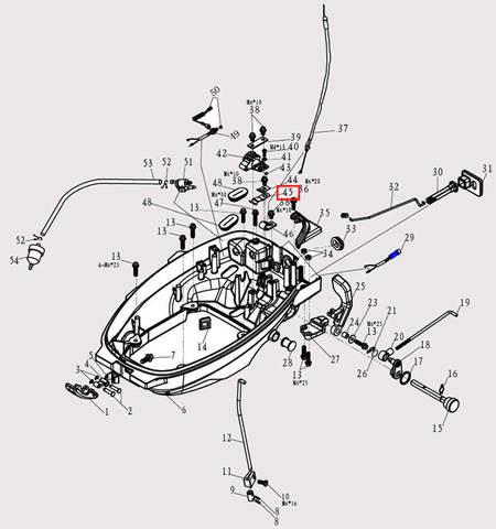 Скоба для лодочного мотора F9.8 Sea-PRO (2-45)