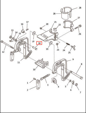 Стопор струбцины  для лодочного мотора T2,5 SEA-PRO (6-18)