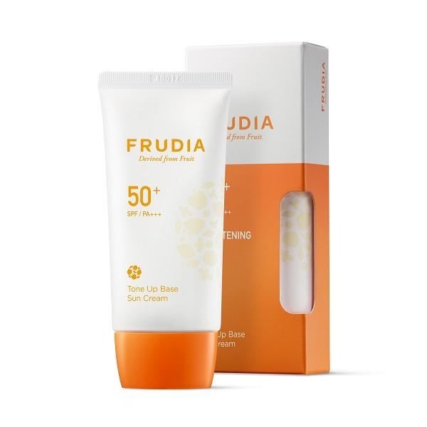 Крем-основа тональная солнцезащитная SPF50+ PA+++ Frudia Tone Up Base Sun Cream 50г