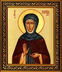 Марина Берийская (Македонская) Святая преподобная. Икона на холсте.