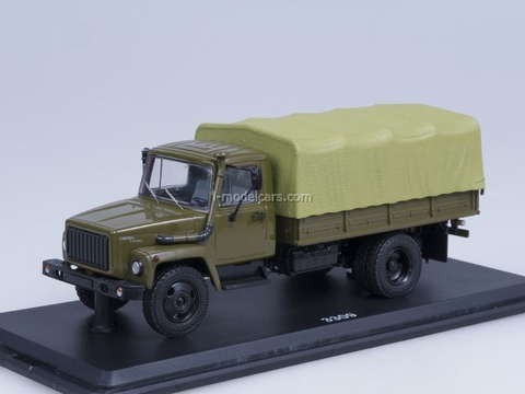 GAZ-3309 engine D-245.7 Diesel Turbo with awning khaki Start Scale Models (SSM) 1:43
