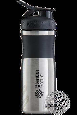 BlenderBottle SportMixer Stainless Steel, 828мл Шейкер из Нержавеющей Пищевой Стали черный-черный 828 мл
