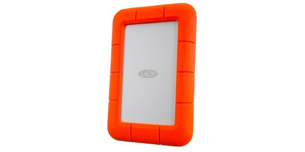"""Внешний жесткий диск 2TB LaCie Rugged Mini USB-C 2,5"""" вид сбоку"""