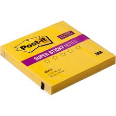 Стикеры Post-it Super Sticky 654-S 76х76 желтый,90л