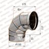 Отвод моно 90° d150мм (430/0,5мм) Ferrum