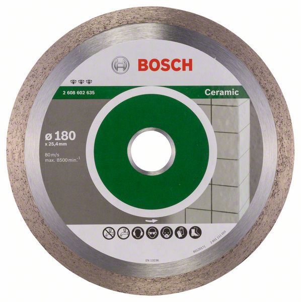 Алмазный диск Best for Ceramic 180-25,4 Bosch 2608602635