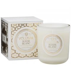 Ароматическая свеча Voluspa Белая замша в подарочной коробке