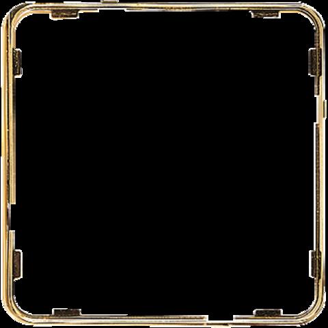 Внутренняя цветная рамка. Цвет Полированное золото. JUNG CD PLUS. CDP81GGO