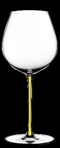 Riedel Fatto a Mano - Фужер Old World Pinot Noir 705 мл хрустальное стекло с желтой ножкой (stemglass) картон