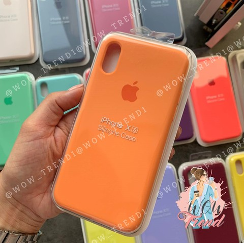 Чехол iPhone 6/6S Silicone Case Full /papaya/ папая