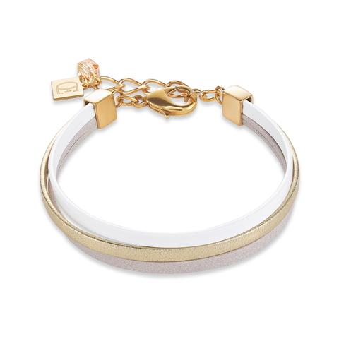 Браслет Coeur de Lion 0221/30-1412 цвет белый, серый, золотой