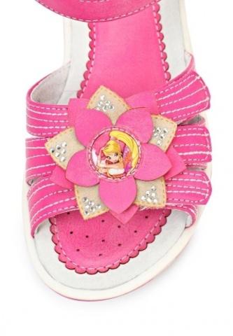 Босоножки Винкс (Winx) на липучках с открытым носком и пяткой для девочек, цвет розовый. Изображение 7 из 8.