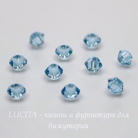 5328 Бусина - биконус Сваровски Aquamarine 3 мм, 10 штук