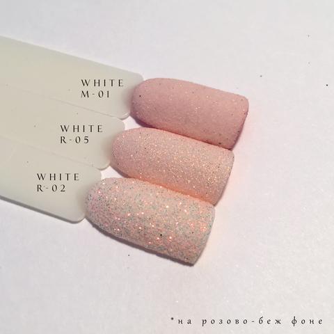 Блеск для ногтей White R-05
