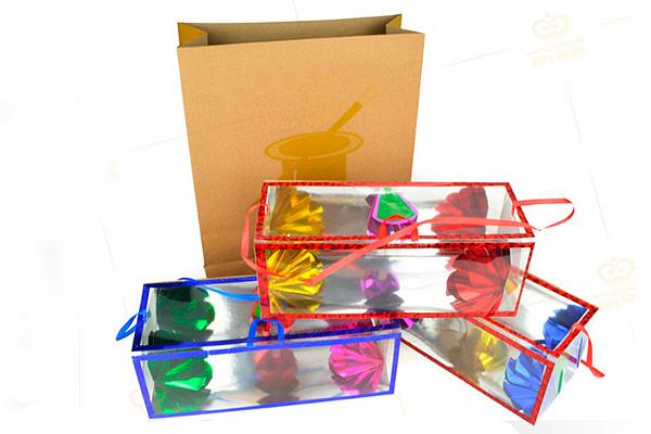 Появляющиеся коробочки с цветами для фокусов