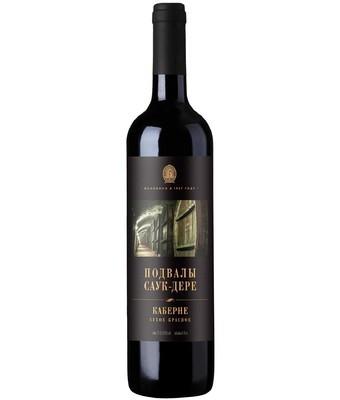 Вино Подвалы Саук-Дере Каберне сухое красное географического наименования 0,75л