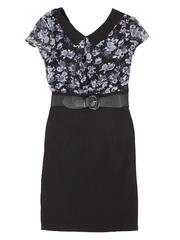 GDR004730 Платье женское, черно-разноцветное