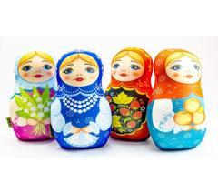 Подушка-игрушка антистресс «Матрешка весенняя» 4