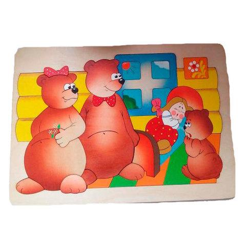 Мозаика-вкладыш Три медведя, Крона 143-032