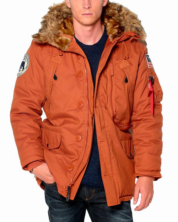 Куртка Аляска Зимняя - Polar Jacket (оранж -B.orange)
