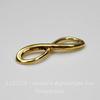 """Коннектор """"Знак бесконечности"""" 23х8 мм (цвет - античное золото)"""
