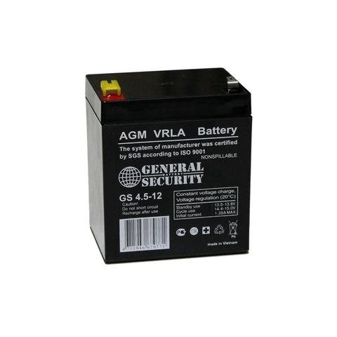 Аккумулятор GS 4.5-12 (12В 4,5А/ч)