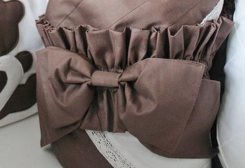 Бант на одеяло - конверт шоколад