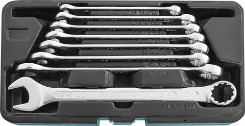 Набор ключей гаечных комбинированных с профилем SUPER TECH в кейсе, 8-19 мм, 8 предметов