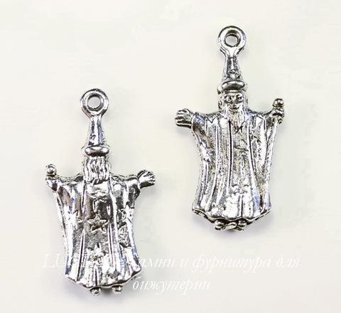 "Подвеска Quest Beads ""Волшебник"" (цвет-античное серебро) 25х14 мм"