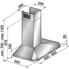 Вытяжка Korting KHC 6951 X - схема