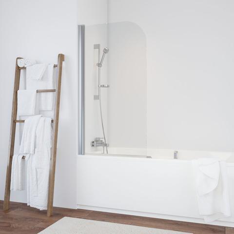 Душевая шторка на ванную Vegas Glass EV профиль хром глянцевый, стекло прозрачное