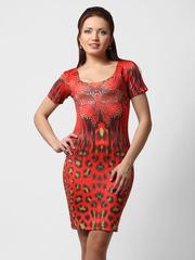 07012 платье красное