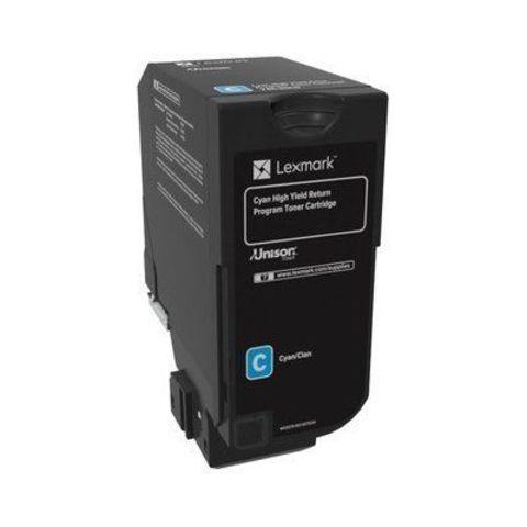 Тонер-картридж для принтеров Lexmark CS720, CS725, CX725 голубой (cyan). Ресурс 3000 стр (74C50C0)