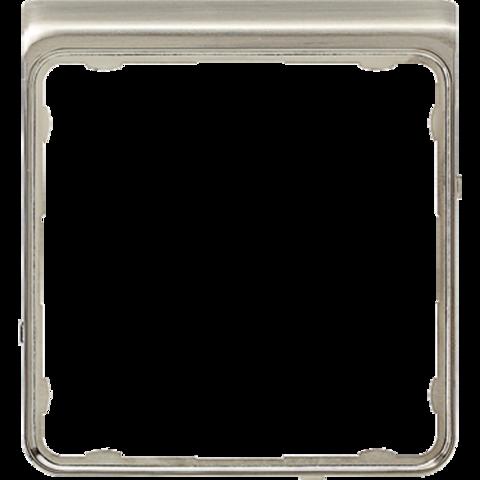 Внешняя цветная рамка. Цвет Нержавеющая сталь. JUNG CD PLUS. CDP82ES