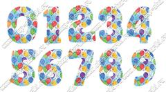 Фольгированные шары цифры с шариками