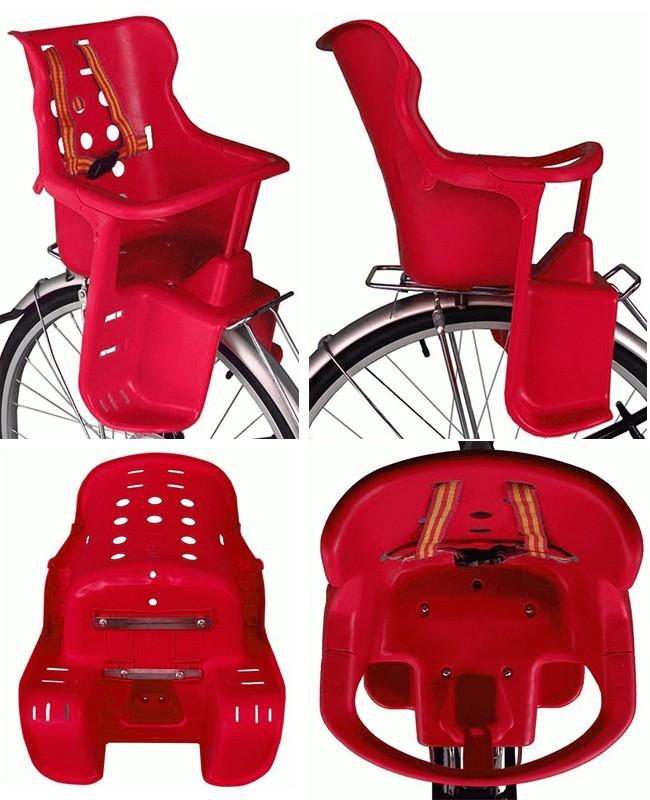 Крепление на багажник велосипеда пластикового детского кресла